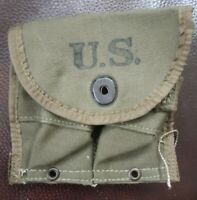 Original WWII WW2 US Army Military Carbine Ammo Pouch 1945 Dated