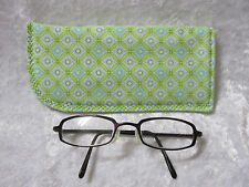 Jazberryz Padded Spectacle Glasses Soft Pouch *Mint Green Geometric New Handmade
