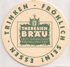 """Theresienbräu, Innsbruck - alter Bierdeckel """"Erste Innsbrucker Wirtshausbrauerei"""