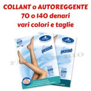 CALZE COLLANT, AUTOREGGENTE SAUBER calze a compressione graduata 70/140 denari