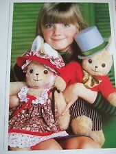 Vintage SEWING PATTERN Jean Greenhowe MR & MRS BUNNY Teddy Bear  TOY