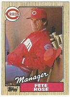 1987 TOPPS BASEBALL #393 PETE ROSE MANAGER - EX+/NRMT-