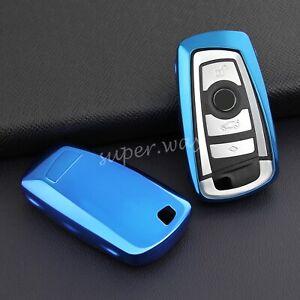 FOR BMW Blue TPU Soft Shell Smart Key Case Holder Cover F20 F21 F22 F23 F30 F31
