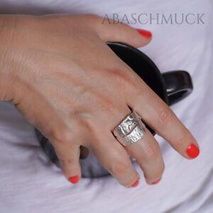 Silberring Silber 925 Ring  Verstellbar Offen R0752  🪐 modern, schick,
