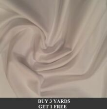 """Plain Cream 100% Cotton Drill Twill Dress Crafts Upholstery Fabric Material 60"""""""