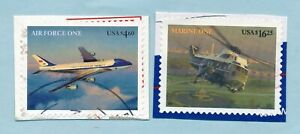 USA PRESIDENTIAL AIRCRAFT $4.60 & $ 16.25 VF USED on PIECE  SCOTT #s 4144 4145