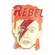 David Bowie Ziggy Stardust Enamel Lapel Pin Badge/Brooch Rebel BNWT/NEW Gift