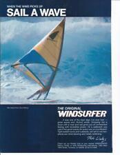 1982 Windsurfer Brand Surfboards Ad /Great Art/ Dick Watze