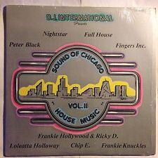 CHICAGO SOUND HOUSE MUSIC VOL.II • Vinile Lp Raccolta • 1986 Dj International