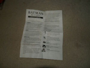 Batman Returns 3d board game - spanish instructions - Parker Brothers 1992