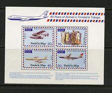 Trinidad & Tobago 1977  #271A  Lindbergh's plane aviation jets  sheet  MNH  K196