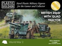 Plastic Soldier 15mm Britisch 25pdr & Morris Quad Traktor 4 #WW2G15005