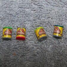 1:12 Dollhouse Miniature 4 Play-Dooh Cans Toy