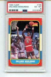 1986 Fleer Orlando Woolridge PSA 6  #130
