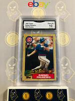 1987 Topps Rafael Palmeiro #624 Rookie - 10 GEM MINT GMA Graded Baseball Card
