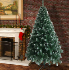 6FT Artificial Christmas Tree Green White Fir tree w Base Home Decor.
