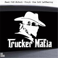 Cowboy Trucker Vinyl Decal Sticker Big Rig Life Semi Tractor Trailer Soot Diesel