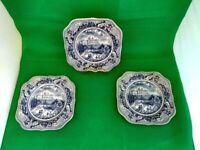 Johnson Bros Historic America Plates x 3
