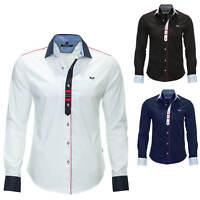 Carisma Langarmhemd Freizeithemd Elegant Business Hemd Herrenhemd Color Mix