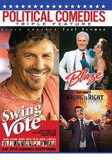 Political Comedies SWING VOTE BLAZE & WRONG IS RIGHT (DVD) NO CASE NO ART