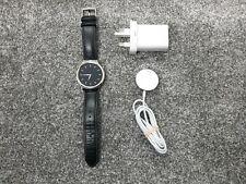 Huawei Watch W1 Classic Black Leather Steel Smartwatch *Pristine*