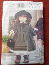 """Vogue Craft Pattern 7007 Linda Carr 18"""" Doll & Clothes Waldorf-style CUT"""
