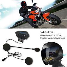 Motorrad Helm Bluetooth Kopfhörer Headset Intercom mit Lautsprecher Mikrofon DE