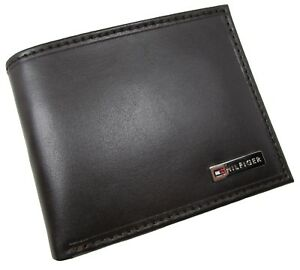 NEW Tommy Hilfiger FORDHAM RFID Protection Leather Bifold Coin Pocket Wallet