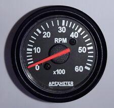 "Electronic  6000 RPM 2 1/16"" (52mm) Tachometer,24V Black"
