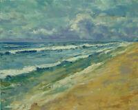 Art Oil Original Painting RM Mortensen Landscape Seascape Beach Coast