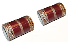 Bangles / Maroon Chura / Choora  w/ contrasting bangles with kundan style stones