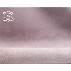 Smokey Pink natural suede fabric, genuine sheep suede, pink natural lamb skin//
