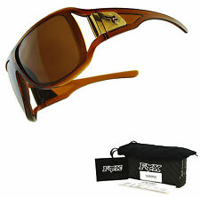 Fox The Heartless Sunglasses by Oakley Dark Amber Frame Dark Bronze Lens Sample