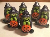 Paper Magic Group Vintage Witch Candle Lot Of Six - Four Still Sealed VHTF Rare