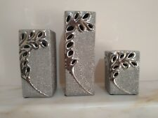 Set Of 3 Silver High Quality Tea Light Candle Holders vintage