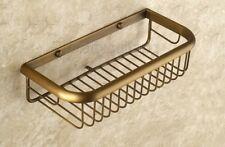 Antique Brass Wall Mounted Bathroom Soap / Sponge Shower Storage Basket Pba523