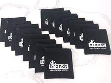 15x Dr Brandt black makeup Cosmetics Makeup canvas travel wash Bag Pouch set lot