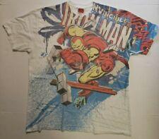 Marvel Comics Iron Man Invincible All Over front Print Men XL T Shirt