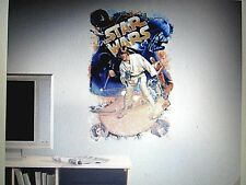 STAR WARS  Mega Mural Wall Stickers  Retro Decor BiG Luke Skywalker Decal