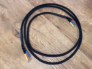 ☎️ Telephone Cord, Black, Line Braided 3-Way - Suitable for any Euro phone ☎️