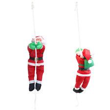 Babbo Natale su Corda 40cm Decorazione Natalizia Natale Figura Nicolò Scala