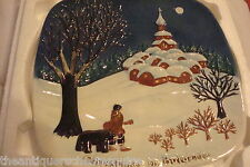 "Royal Doulton ""Cristmas in Bulgaria"" square plate numbered on back"