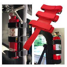Adjustable Car Safety Roll Bar Fire Extinguisher Holder Mount Bracket Fixed Tool