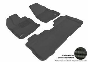 For 2010-2017 Gmc Terrain R1 R2 KAGU Carbon Pattern Black All Weather Floor Mat