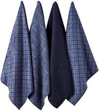 Carver Navy Microfibre 4pk Kitchen Towel Super Absorbent Quick Drying Microfibre