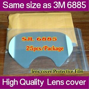 SJL 6885 Covers Same 3M 6885 Face shield LENS Cover for 6000 Series Respirator