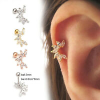 1pc Zircon Ear Cartilage Piercing Earring Tragus Helix Stud Body Jewelry~