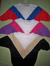 Lot/3*Women/Junior*Dolman*Batwing*Chevron*LARGE*Red/Blue*Black/Beige*Pink/Purple