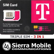 T-MOBILE Triple SIM R15  MINI + MICRO + NANO 5G LTE • TRACKING • USE BY OCT 2023