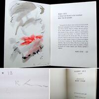 🌓 RARISSIME Aquarelle de Robert Mus Présentation de René Char n°19/30 signé